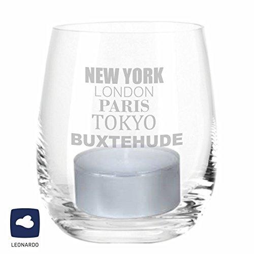 Leonardo Windlicht Buxtehude New York, London, Paris, Tokyo, Buxtehude Geschenk Deko YD 3-001-1283