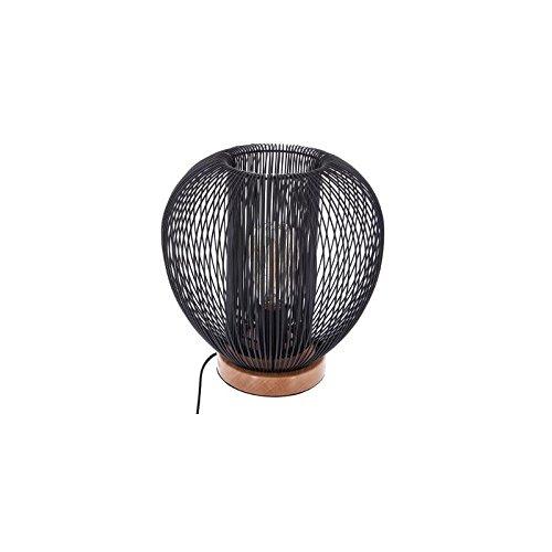 Lampe fils - 27,5 x 27,5 cm - Métal - Noir