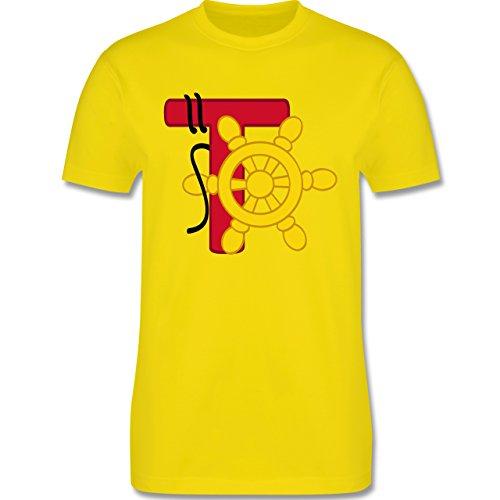 Anfangsbuchstaben - T Schifffahrt - Herren Premium T-Shirt Lemon Gelb