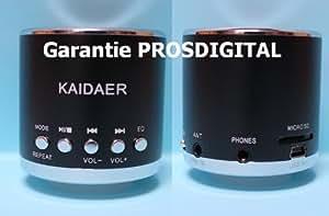 Mini enceinte Stéréo Kaidaer MN01r(r=radio FM) - Noir