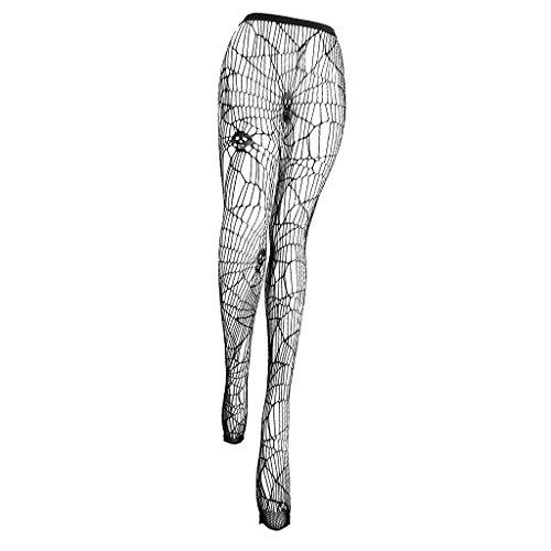 (MagiDeal Halloween Strumpfhosen mit Schädel Muster Schwarz Damen Kostüm für Karneval, Einheitsgröße)