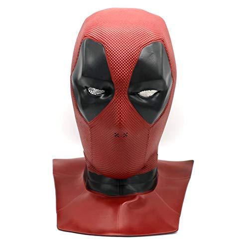 raninnao Deadpool-Maske Halloween Maske Latex Head Face Deadpool Maske Cosplay Deadpool Movie Style Cosplay Maske Für Kostüm