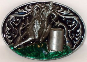 Rodeo Barrel Racing Cowboy Cowgirl Western Belt Buckle!! by Buckle (Rodeo Western Cowgirl)