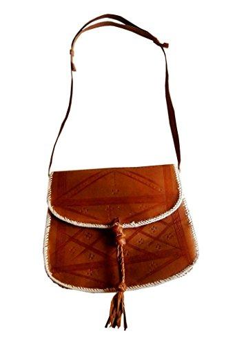 Echtes Leder Schultertasche , Handtasche , Umhängetasche für Frauen, Damen, Mädchen - handgefertigt (Tote Strauß-geprägte)