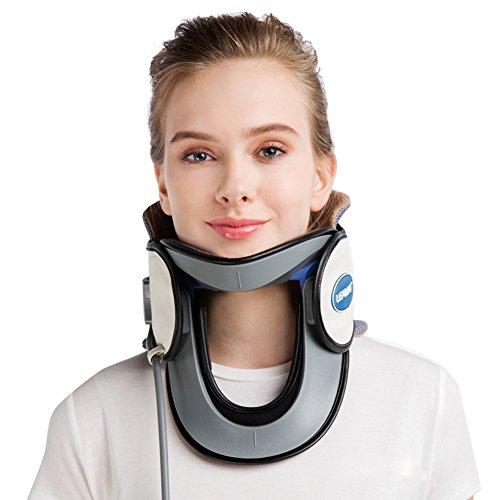 Wgwioo Hals-Zervikale Zugkraft-Aufblasbare Medizinische Tragbare Entlastung Vom Hals Und Von Den Oberen Rückenschmerzen Für Haus,White