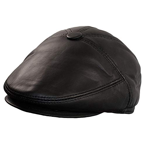 Dazoriginal Ballonmütze Baskenmütze Flatcap Leder Schiebermütze Newsboy Caps (M)