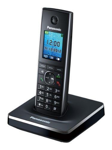Panasonic KX-TG8551SP - Teléfono inalámbrico digital (DECT Single, pantalla LCD color), negro