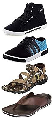 Maddy Men's Multicolour Synthetic Shoes - 7 (Pack of 4)