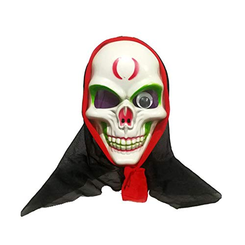 Appearandes Halloween Horro Mask for Adult Decorative Make Up Party Mask for FestivalMask Hood, Plus Horror Ghost Mask