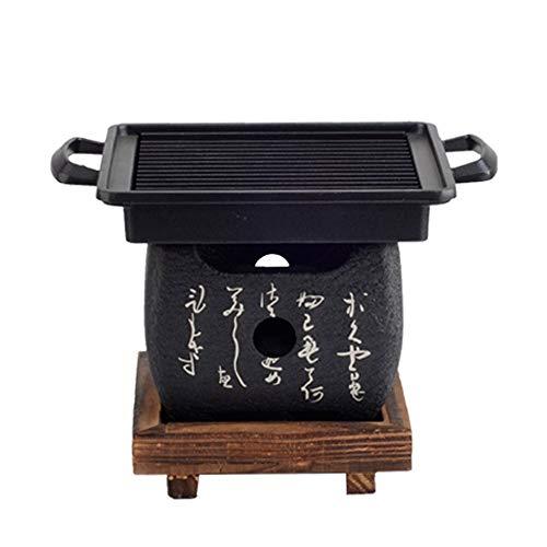 ZCF Koreanisch Japanisch BBQ Grill Japanisch Koreanisch Küche Grill Grill Gekochter Tee Holzkohle Alkohol Desktop Kleine Ofen (Farbe : B) -
