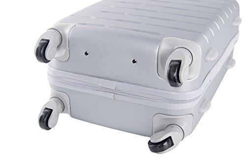41iHxOA%2BLxL - 3 Maletas rígidas PIERRE CARDIN plata 4 ruedas cabina para viajes VS20