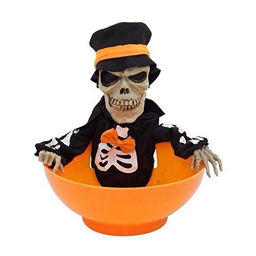 kraftz® Halloween Candy Schüssel verschiedene Designs Spielzeug mit Licht & Sound Party Requisiten Orange (Halloween Candy Schüssel)