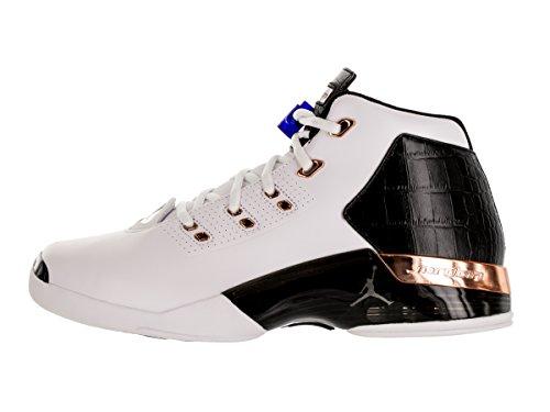 Nike Air Jordan 17 + Retro, espadrilles de basket-ball homme Blanc Cassé - Blanco (White / Mtlc Cpprcn-Blk-Sprt Ryl)