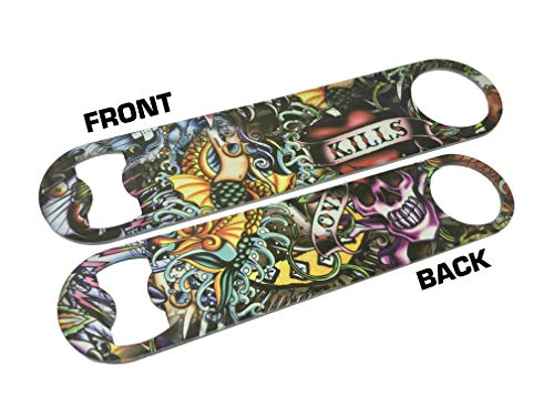 Tattoo Graffiti Wrapic Bar Blade Flaschenöffner Full Color Bar Blade Art Paint Bier Alkohol Bartender Tool -