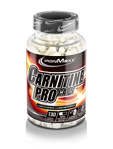 IronMaxx Carnitine Pro Caps – Kapseln mit hochdosiertem L-Carnitin Tartrat für effektive Fettverbrennung während der Diät – 1 x 130 Kapseln