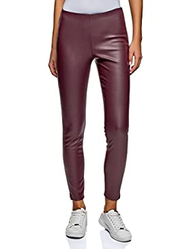 oodji Ultra Donna Pantaloni in Ecopelle con Zip