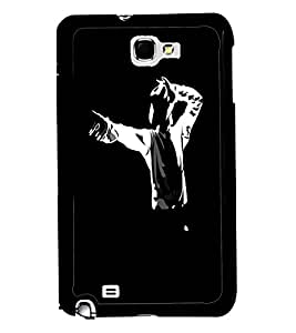 PRINTVISA Premium Metallic Insert Back Case Cover for Samsung Galaxy Note 2 - N7100 - D5947