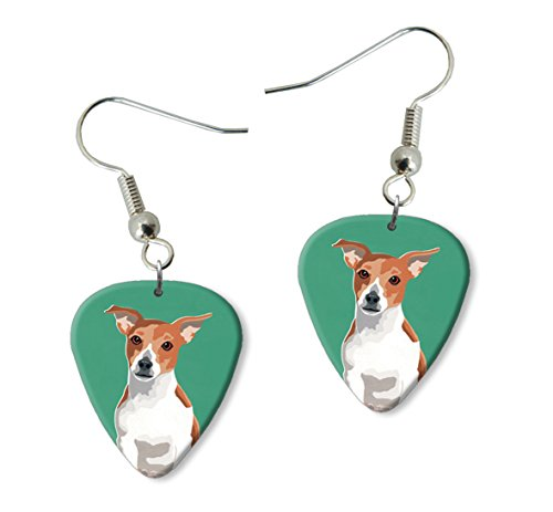 jack-russell-martin-wiscombe-guitar-pick-orecchini-earrings-vintage-retro