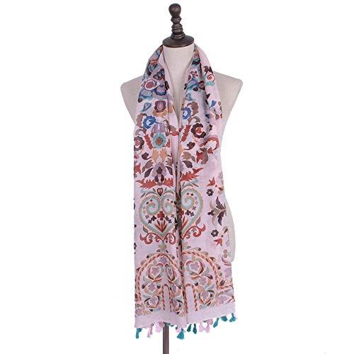 Totem Drucken (GUANHONG Schal ethnischen Stil Muslim Kopftuch Retro Dame Totem drucken Sonnencreme Schal Schal)