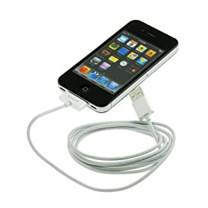 KanaaN USB Data Sync and Charging Cable for Apple iPhone 3G 3GS 4 4S and iPod - 1.5 m long - longer than original cable