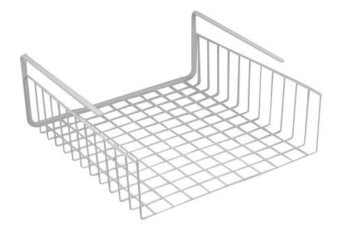 Southern Homewares unter Regal Korb Draht Wrap Rack Lagerung Organizer für Küche, Anrichte, 12-1/2by 12-1/2von 12,7cm, Weiß -