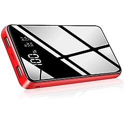 HuaF Batterie Externe 25000mAh Haute Capacité Power Bank Portable Chargeur 2 Ports de USB Sortie avec Affichage Numérique Intelligent de L'alimentation LCD, Compatible Tous Smartphones Tablettes