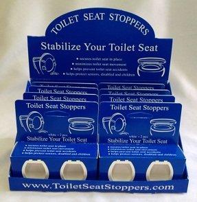 Toilet Seat Stoppers-grade boîte commerciale siège de toilettes stabilisateur robuste de 8