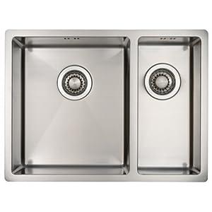 Fregadero de Cocina Mizzo Linea 34-18 | Acero Inoxidable 304 | Mueble de 60 cm | Montaje Bajo o Sobre Encimera o al Ras…