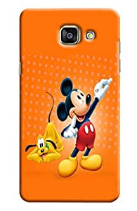 Blue Throat Micky And Dog Printed Designer Back Cover/ Case For Samsung Galaxy A5 2016