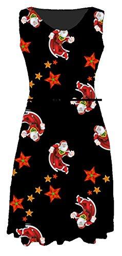 Other - Robe - Sans Manche - Femme Multicolore Bigarré Santa Superman