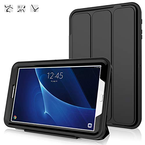 DAORANGE Hülle für Samsung Galaxy Tab A 10.1 (SM-T580/T585), Stoßfeste Schutzhülle Smart Case Cover mit Auto Schlaf/Aufwach Funktion Standfunktion für Samsung Galaxy Tab A 10.1 Zoll 2016 (Schwarz)