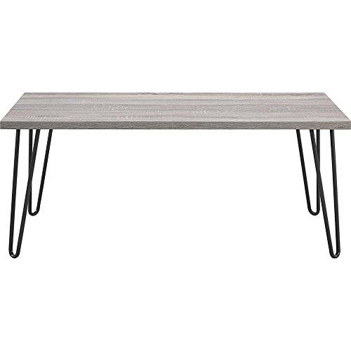 Rechteckig Set Kaffee-tisch (hahaemall Moderne Optik Möbel DIY Home Esstisch Industrie schwarz Metall 2Rod Haarspange Kaffee Tisch Beine Set von vier (40,6cm/41cm), ohne das Holzbrett)
