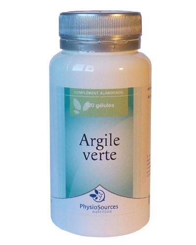 ARGILE VERTE en 120 gélules dosées à 455 mg