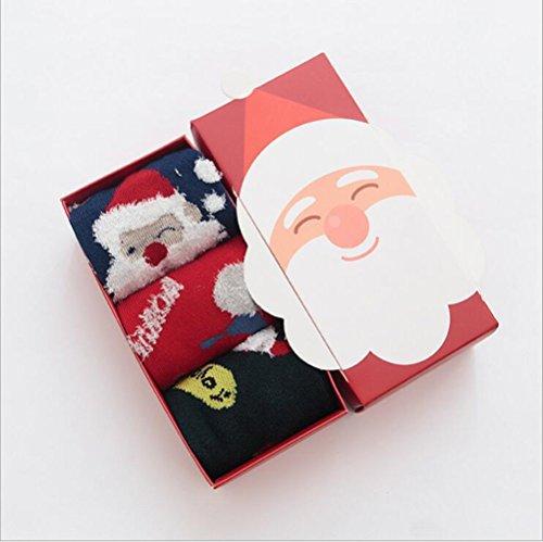 Stillshine 3 Paar 3D Weihnachten Socken, - Childrens Baby Boy oder Mädchen gemütliche weiche Baumwolle Socken Value Pack für Kleinkind (XL-Code, Stil 2 (3Pairs))
