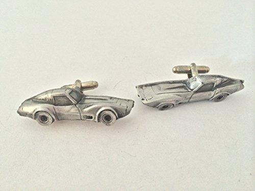 chevrolet-corvette-circa-1979-3d-cufflinks-classic-car-pewter-effect-cufflinks-ref35