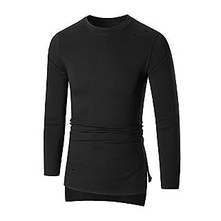 IMJONO Jacket,2019 Neujahrs Karnevalsaktion Herren T-Shirts Mens ' Long Sleeve Hoodie Hooded Sweatshirt Tops Jacket Coat Outwear(Large,Schwarz)