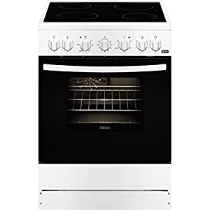 Zanussi ZCV65201WA – Cocina (Independiente, Color blanco, Giratorio, 56L, 1835W, Eléctrico)