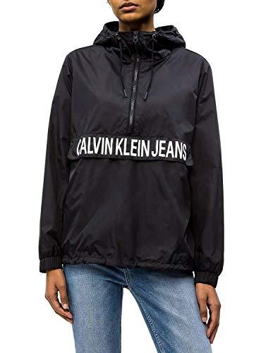 Calvin Klein Jeans Damen Übergangsjacke Color Block Popover schwarz XS -