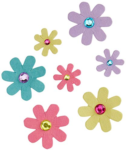 Diakakis 000646063 Jewelled Blume 8pcs 'littlies, bunten -
