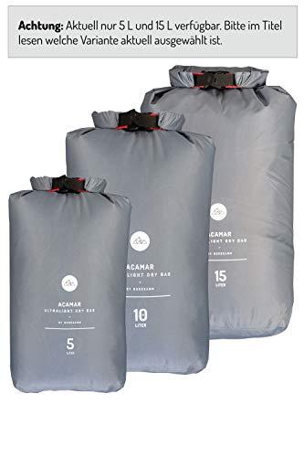 NORDKAMM Borsa impermeabile, 5l, sacca impermeabile, dry bag, sacchetto restistente all'acqua, per nuoto, piscina, mare