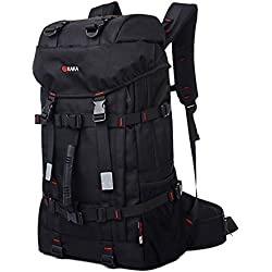 ukglobe Outdoor Mountaineering Traveling Casual Oxford Fabric Backpack (Black)