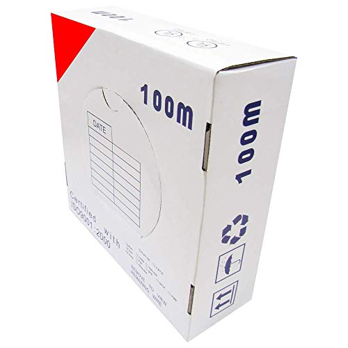 Cablematic Spool UTP Cat6 Kabel 24AWG Stranded CCA Red (100m) -