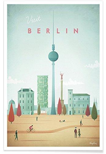 """JUNIQE® Poster 60x90cm Berlin - Design """"Berlin"""" (Format: Hoch) - Bilder, Kunstdrucke & Prints von jungen Künstlern entworfen von Henry Rivers (Bilder Von Alex)"""