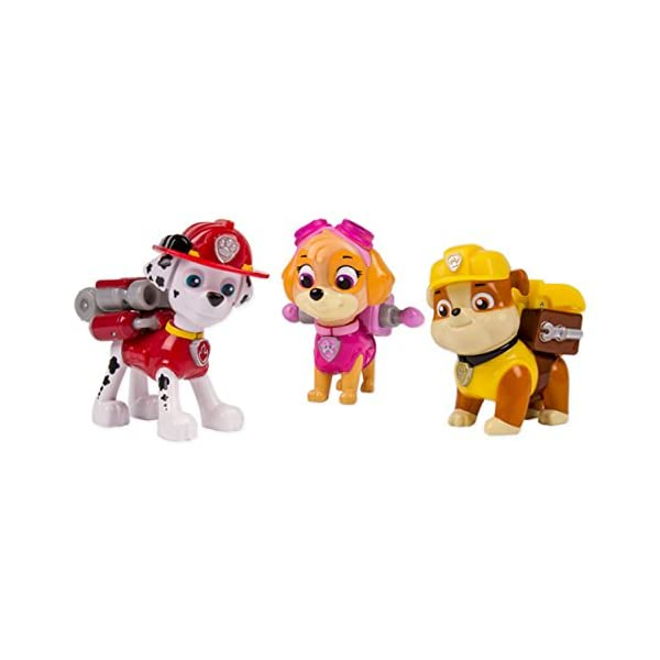 PAW PATROL – Action Pack Pup Set – Marshall, Rubble & Skye – 3 Figuras Acción La Patrulla Canina 2