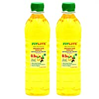 FITLITE Pack of 2 Nature Groundnut Wood Chekku Oil 0.5 LTR