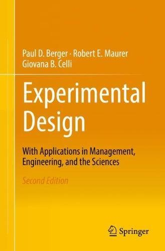Experimental Design: With Applications in Management, Engineering and the Sciences (Square D-box)