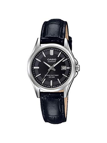 CASIO Damen Analog Quarz Uhr mit Leder Armband LTS-100L-1AVEF