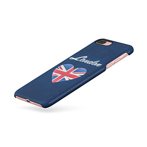 London Great Britain England Flag Custodia Posteriore Sottile In Plastica Rigida Cover Per iPhone 7 Plus & iPhone 8 Plus Slim Fit Hard Case Cover London In Heart