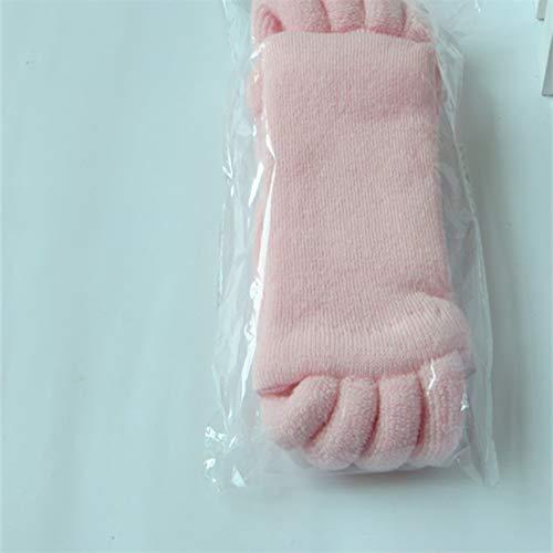Fashion Foot Toes Alignment Hallux Valgus Pro Foot Care Cure Bunion Calcetín Algodón Cinco Dedo Separador Separador Férula Calcetines de color rosa