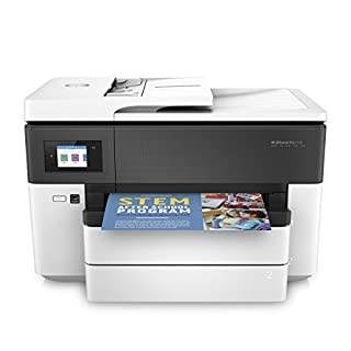 HP OfficeJet Pro 7730 A3-Multifunktionsdrucker (DIN A3, Drucker, Scanner, Kopierer, Fax, WLAN, Duplex, Airprint, 500 Blatt Papierfach) weiß